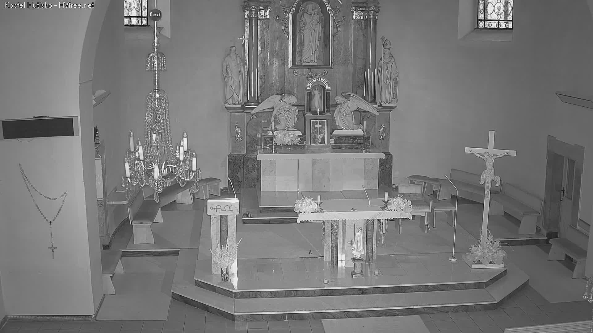 Webkamera Hutisko - Solanec kostel