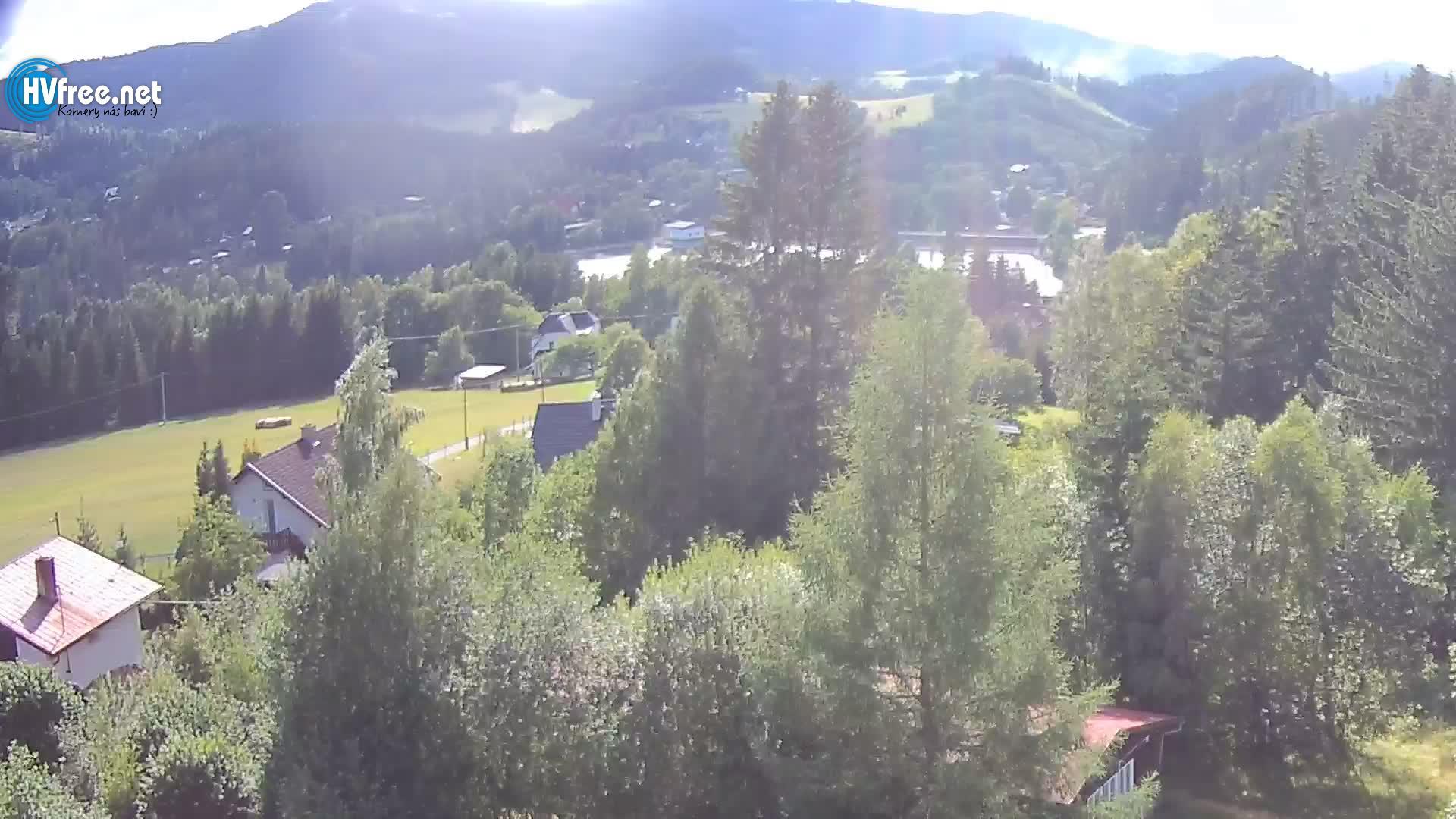 Aktuální obraz kamera hotel Mesit přehrada Horní Bečva