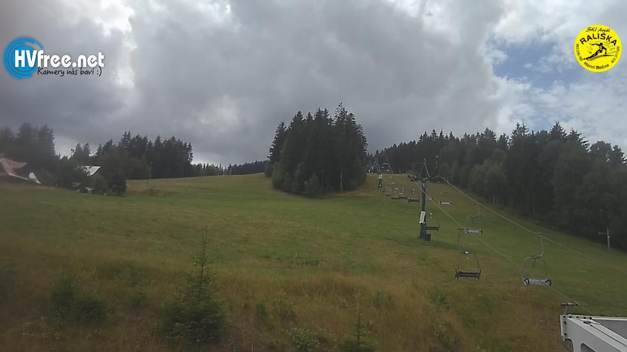Pohled na sjezdovky Rališka