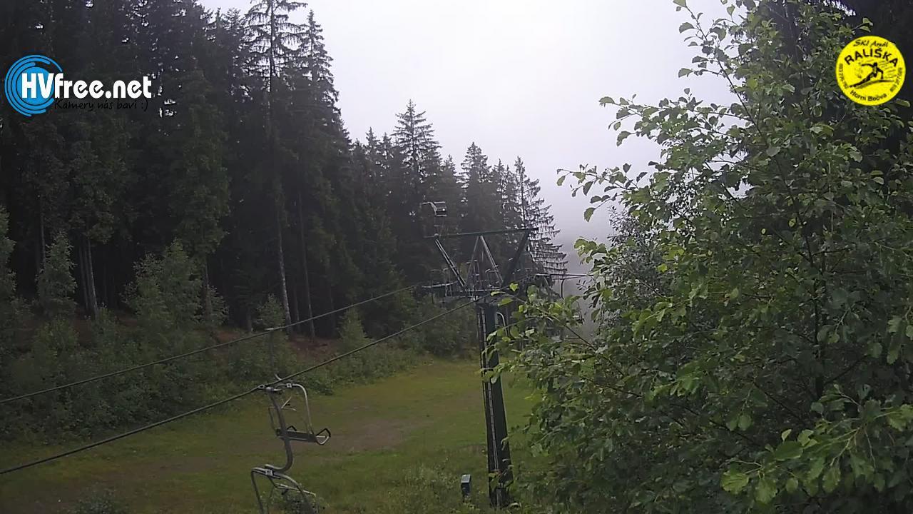 Pohled na prostor konce lanovky